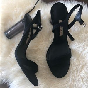 Zara Shoes - ZARA Clear Block Heels